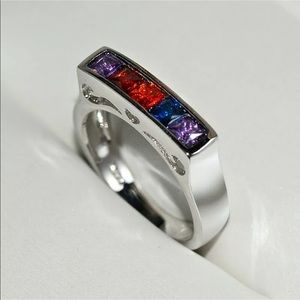 Multicolor Sterling Silver Ring